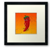 Red Pepper Diva Jigsaw Puzzle Framed Print