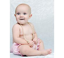 Girls and Pearls Photographic Print