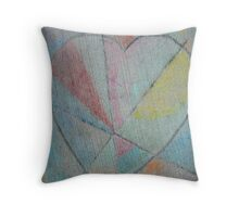 Sidewalk Heart Throw Pillow