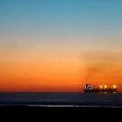Sunset at beach by csouzas