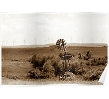 Windmill to Wind Farm - The Old Becomes New Poster
