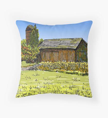 Old Barn, Merrillville, IN Throw Pillow