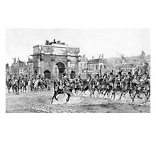 Napoleon I Reviewing His Troops Photographic Print