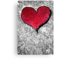 A Heart Of Stone Is Still A Heart Canvas Print