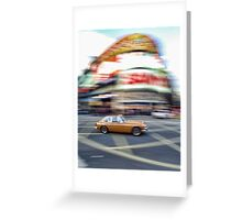 Crossing Picadilly Circus in style Greeting Card