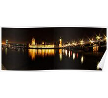 Houses of Parliament at night Poster
