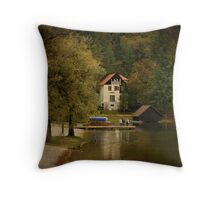 Bled Slovenia Throw Pillow