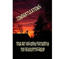"""Silhouettes"" Challenge Photographic Print"