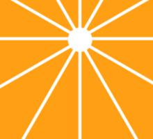 Orange Clockwork Sticker