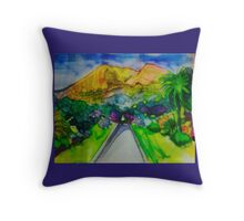 castle hill frontal purple Throw Pillow