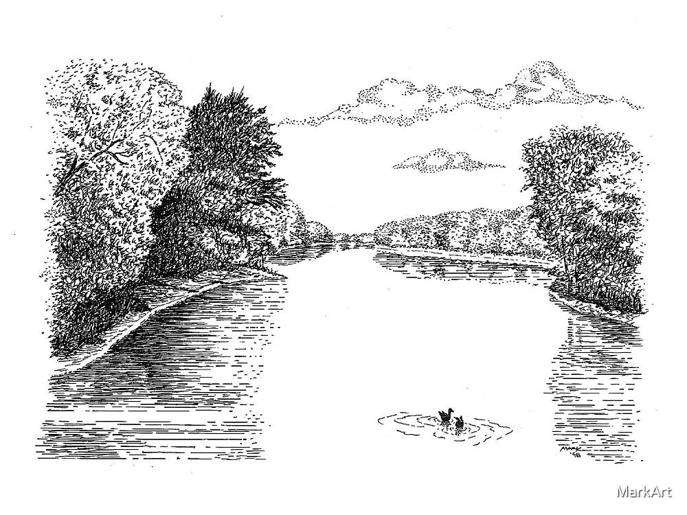 Wabash River, Indiana by MarkArt