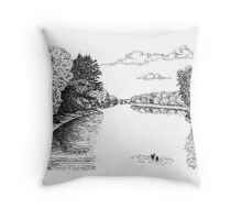 Wabash River, Indiana Throw Pillow