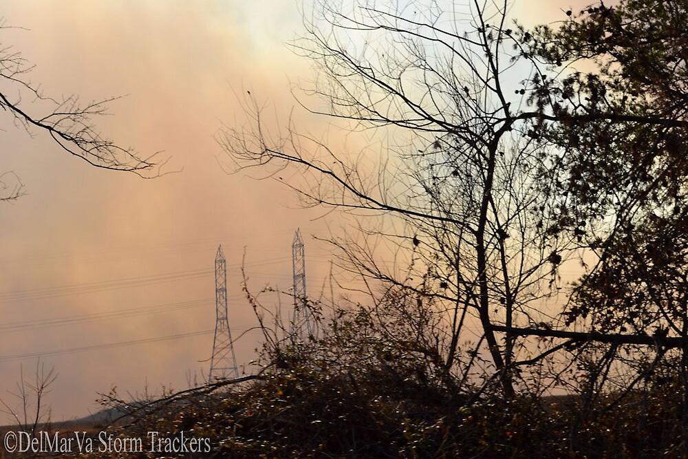 Brush Fire Near Laurel by DelMarVaStorms