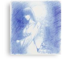 The Tarot: XVIII - The Moon Metal Print