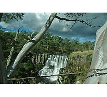 the falls behind the wire Photographic Print