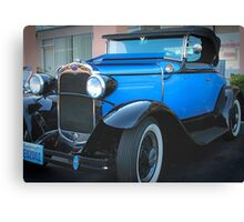 Blue Classic-1930 Model A Ford Convertible Canvas Print