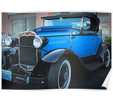 Blue Classic-1930 Model A Ford Convertible Poster