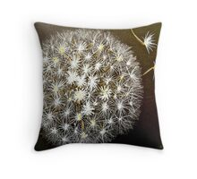 Dandelion puff ball Throw Pillow