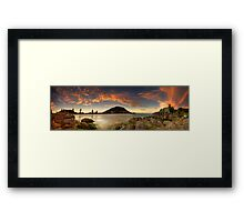 Mount Mauao Rust Dusk Framed Print