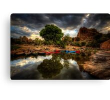 Line Up Canvas Print