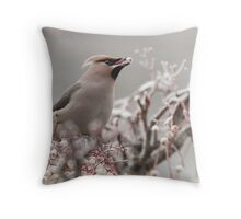 Waxwing Throw Pillow