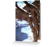 The Willow in Winter Greeting Card