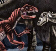 Allosaurus and Diplodocus Sticker