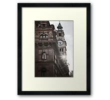 Clock Tower - Martin place Framed Print