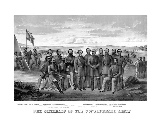 The Generals Of The Confederate Army by warishellstore