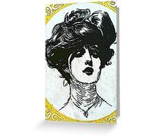 Matchbox Label - Lady Greeting Card