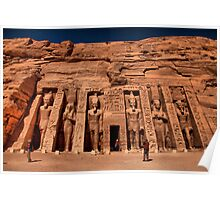 Egypt. Abu Simbel The Second Temple. Poster