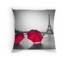 Love in Paris Throw Pillow