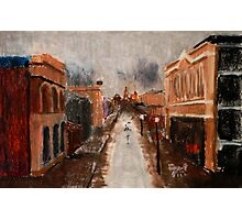 wet day in Freo Photographic Print