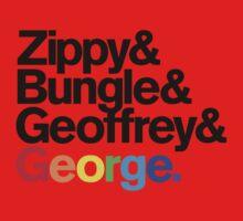 Rainbow - Zippy & Bungle & Geoffrey & George One Piece - Short Sleeve