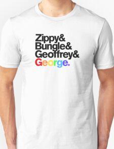 Rainbow - Zippy & Bungle & Geoffrey & George T-Shirt