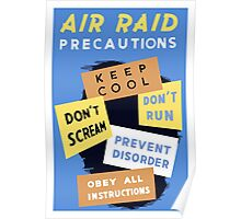 Air Raid Precautions -- World War Two Poster