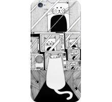 Honey! The cat is watching TV again! iPhone Case/Skin