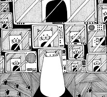 Honey! The cat is watching TV again! by Adrian Serghie