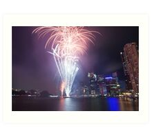 Riverfire in Brisbane | Queensland | Australia Art Print