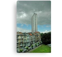 Towering Brussels Canvas Print