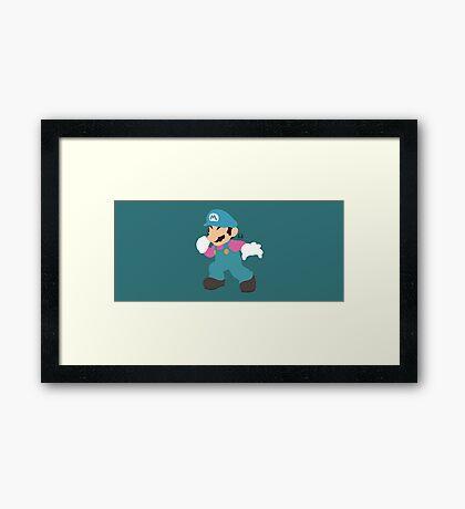 Mario (Cotton Candy) - Super Smash Bros.  Framed Print