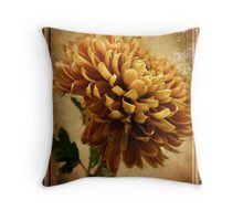Vintage Chrysanthemum Throw Pillow