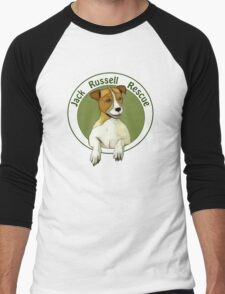 Jack Russell Rescue Logo Tee Shirt Men's Baseball ¾ T-Shirt
