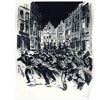 Henri Meunier Strike in Brussels Poster