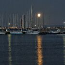 Moonglow on the Moorings ( 2 ) by Larry Lingard-Davis