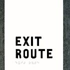 Exit Route Sign by Svetlana Day