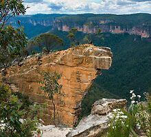 Hanging Rock at Baltzer Lookout another View by Chris  Randall