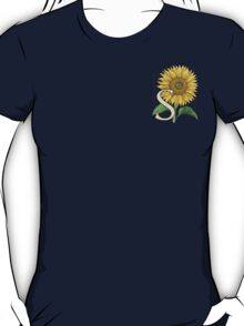 S is for Sunflower - patch T-Shirt