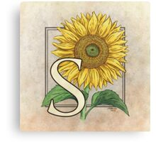 S is for Sunflower Canvas Print