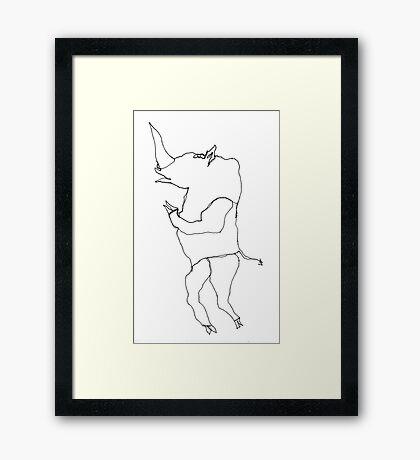 Squib the Rhino Framed Print